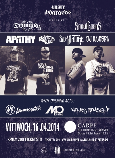 Apathy Sicknature flyer