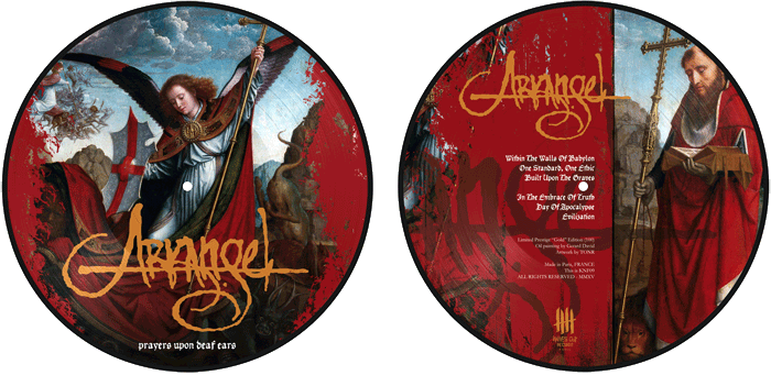 ARKANGEL Prayers Upon Deaf Ears, picture disc, Gold Edition