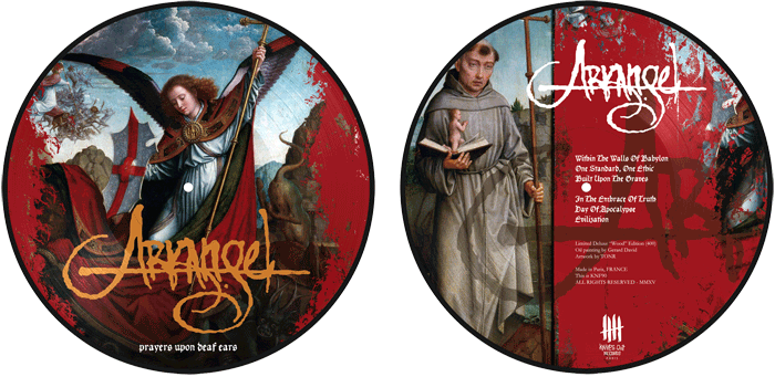ARKANGEL Prayers Upon Deaf Ears, picture disc, Wood Edition