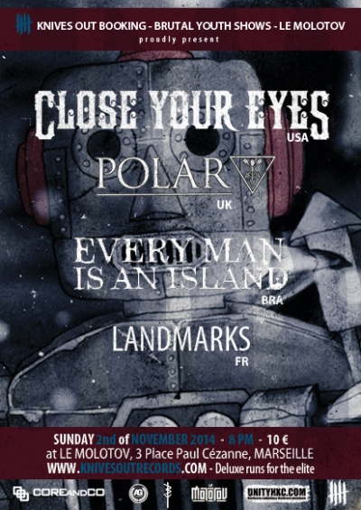 Close Your Eyes flyer