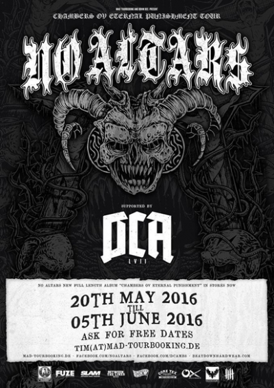 No Altars DCA tour flyer