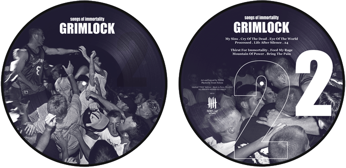 GRIMLOCK songs of immortality picture disc, two Edition