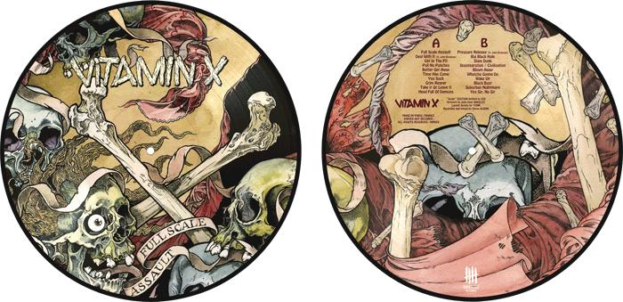 VITAMIN X Full Scale Assault picture disc vinyl