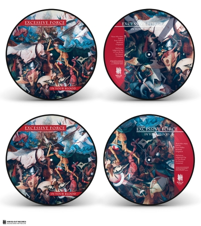EXCESSIVE FORCE 'In Your Blood' Picture Disc vinyl