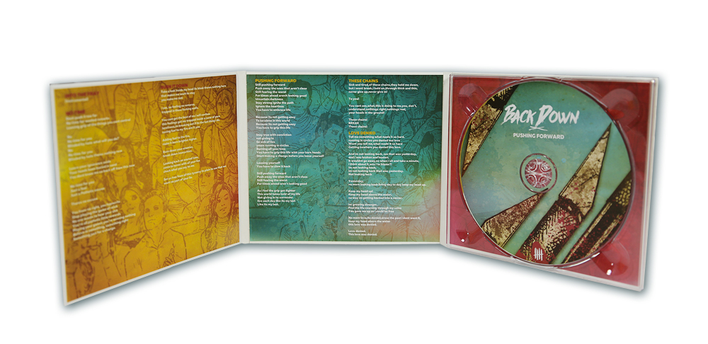 "BACK DOWN ""Pushing Forward"" digipack"