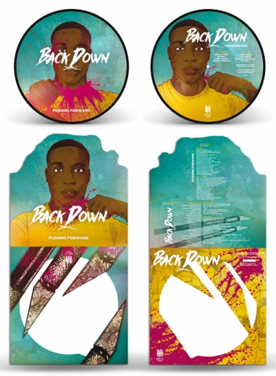 BACK DOWN pushing forward Jay sleeve packaging