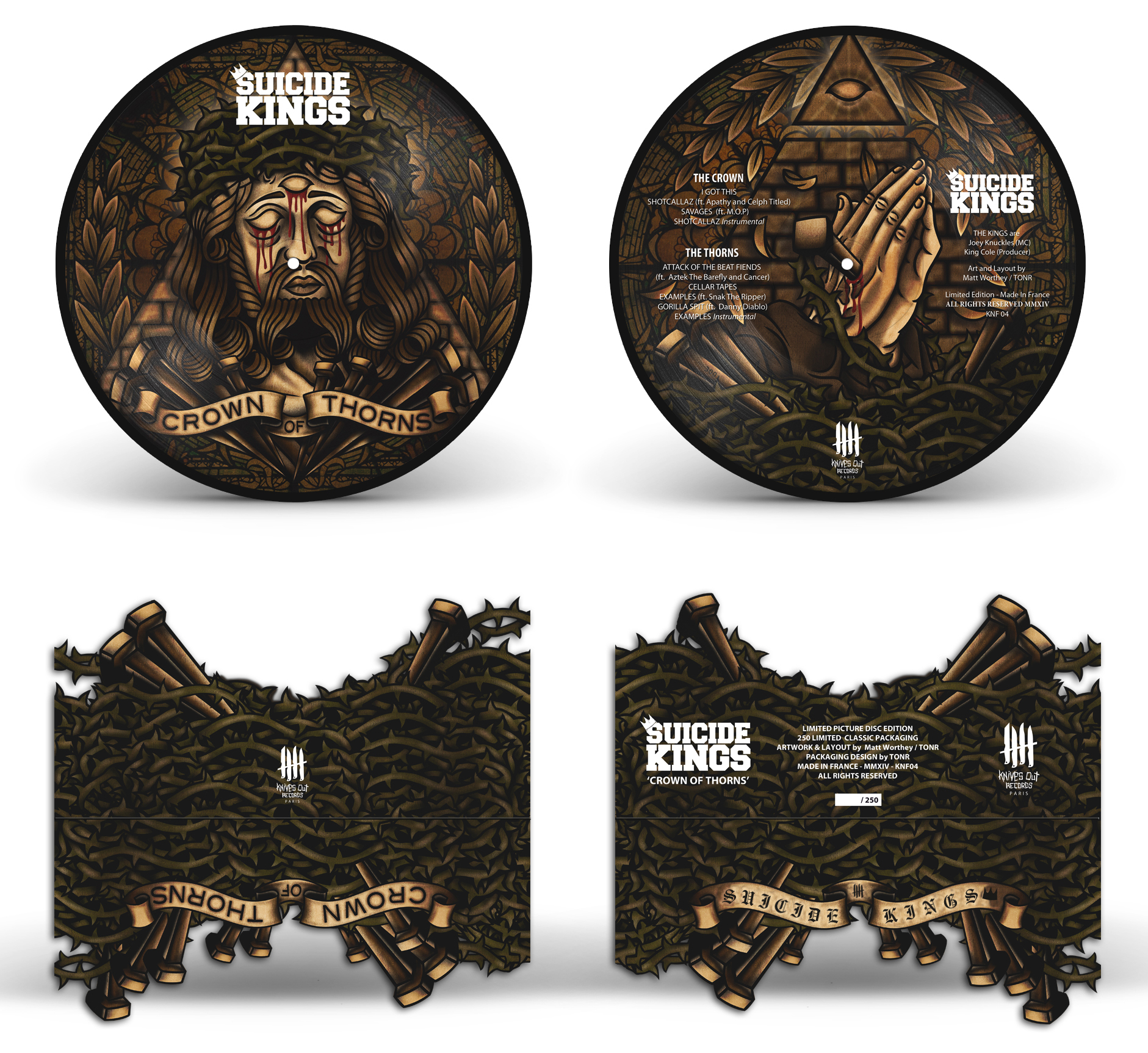 SUICIDE KINGS Crown Of Thorn classic picture disc packaging edition