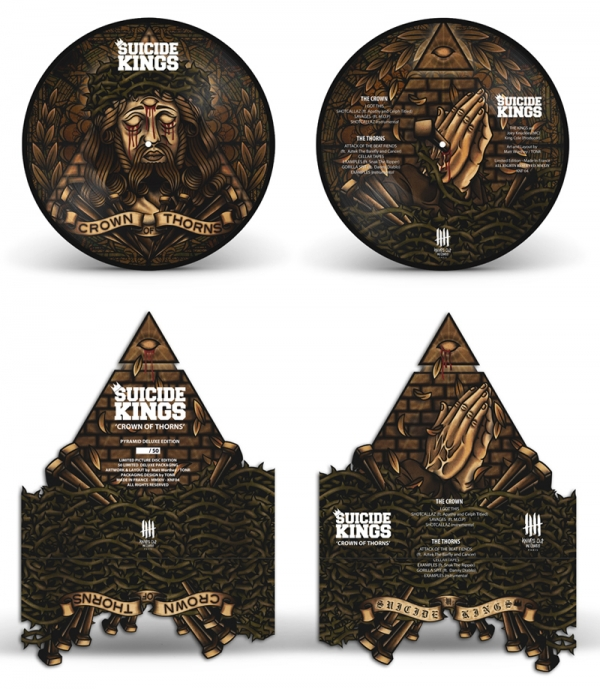 SUICIDE KINGS Crown Of Thorn deluxe picture disc packaging edition