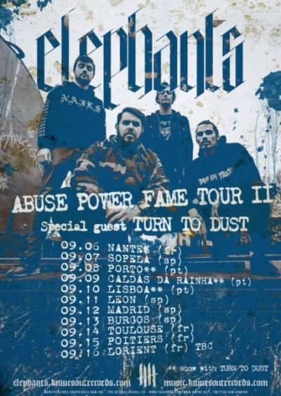 Elephants september tour 2017