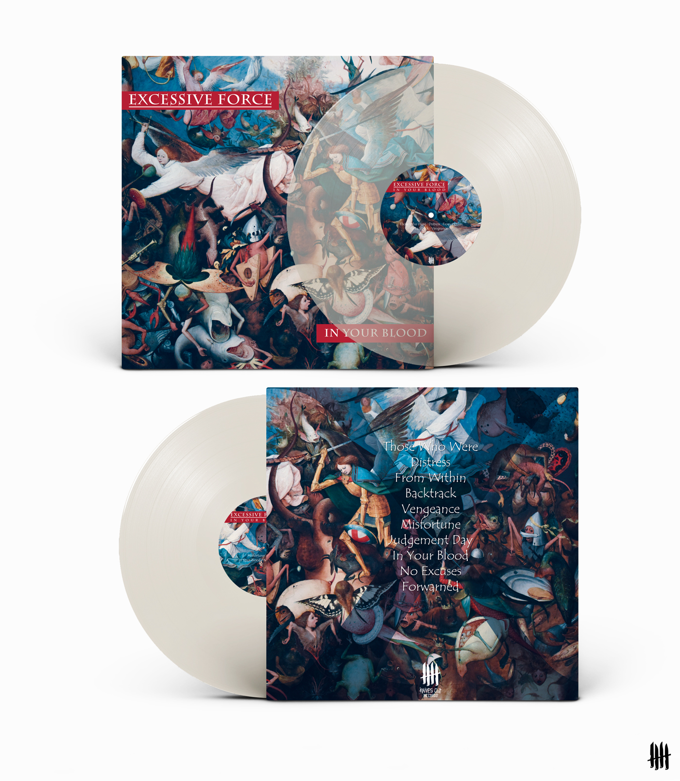 EXCESSIVE FORCE In Your Blood clear vinyl