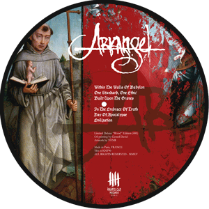 ARKANGEL Prayers Upon Deaf Ears, picture disc, B side - Wood edition