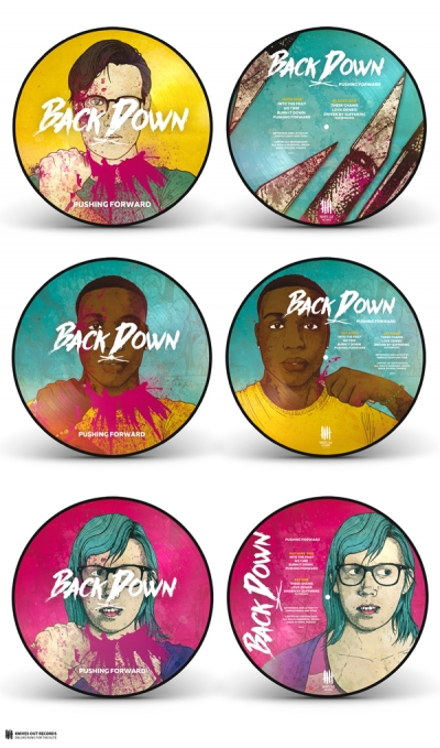 BACK DOWN Pushing Forward triple picture disc vinyl