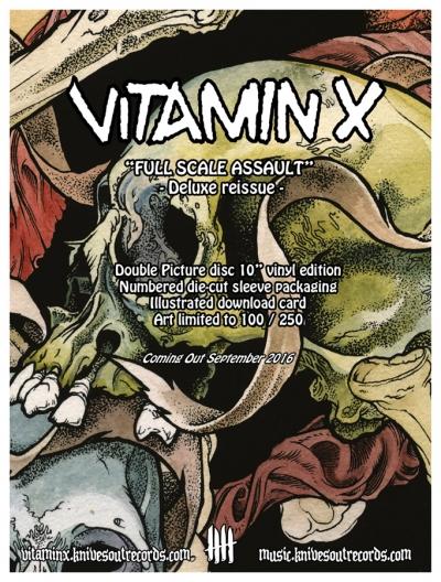 VITAMIN X Full Scale Assault deluxe picture disc vinyl reissue