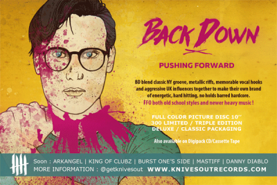 BACK DOWN Promo flyer
