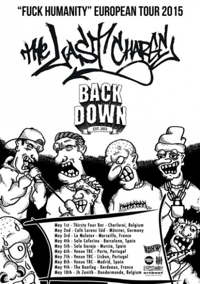 BACK DOWN tour flyer