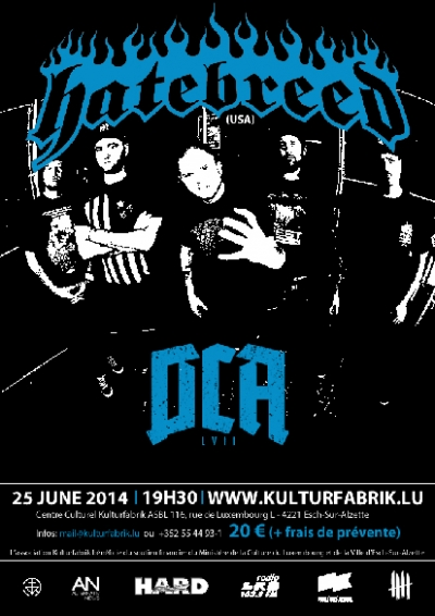 Hatebreed DCA flyer