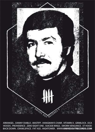 Knives Out Records Mesrine flyer
