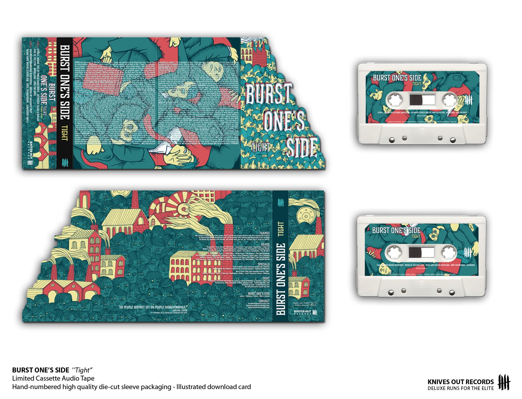 BURST ONE S SIDE Tight Cassette Audio Tape