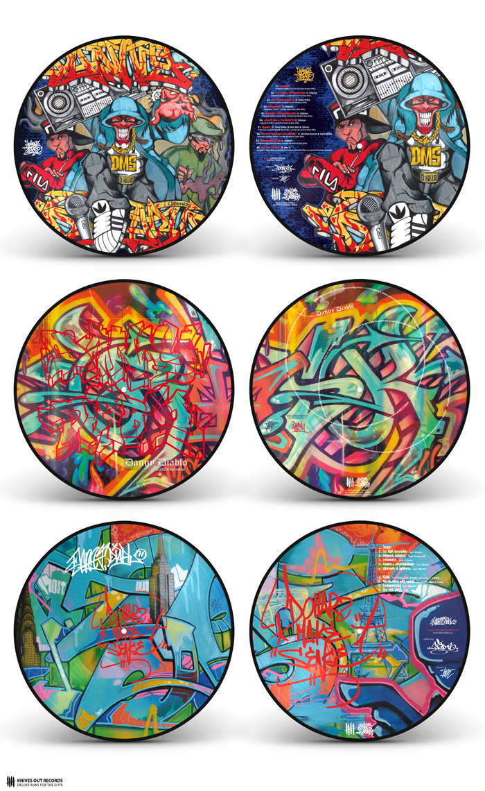 DANNY DIABLO 'Dollerz Make Sense' triple Picture Disc vinyl Edition (Ice U5, Risk, T-Kid 170)