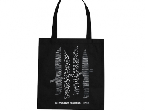 KNIVES OUT Records Totebag logo