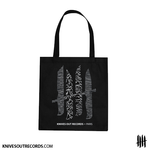 Knives Out records 'Sharp Pleasure, Joy Division'Totebag