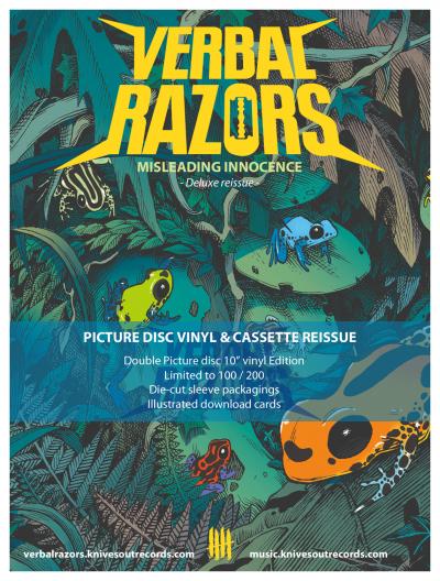 VERBAL RAZORS 'Misleading Innocence' Picture Disc vinyl deluxe reissue