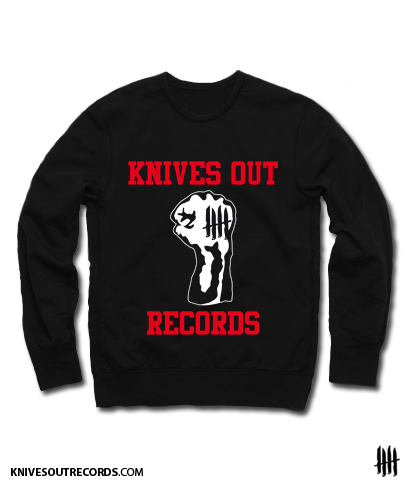 Knives Out records x Youth Of Today tribute crewneck sweat