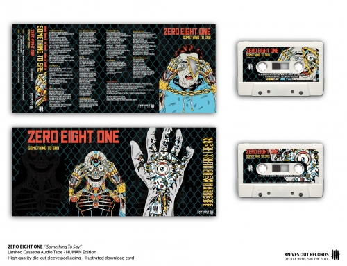 "ZERO EIGHT ONE ""Something To Say"" Cassette Tape – HUMAN Edition"