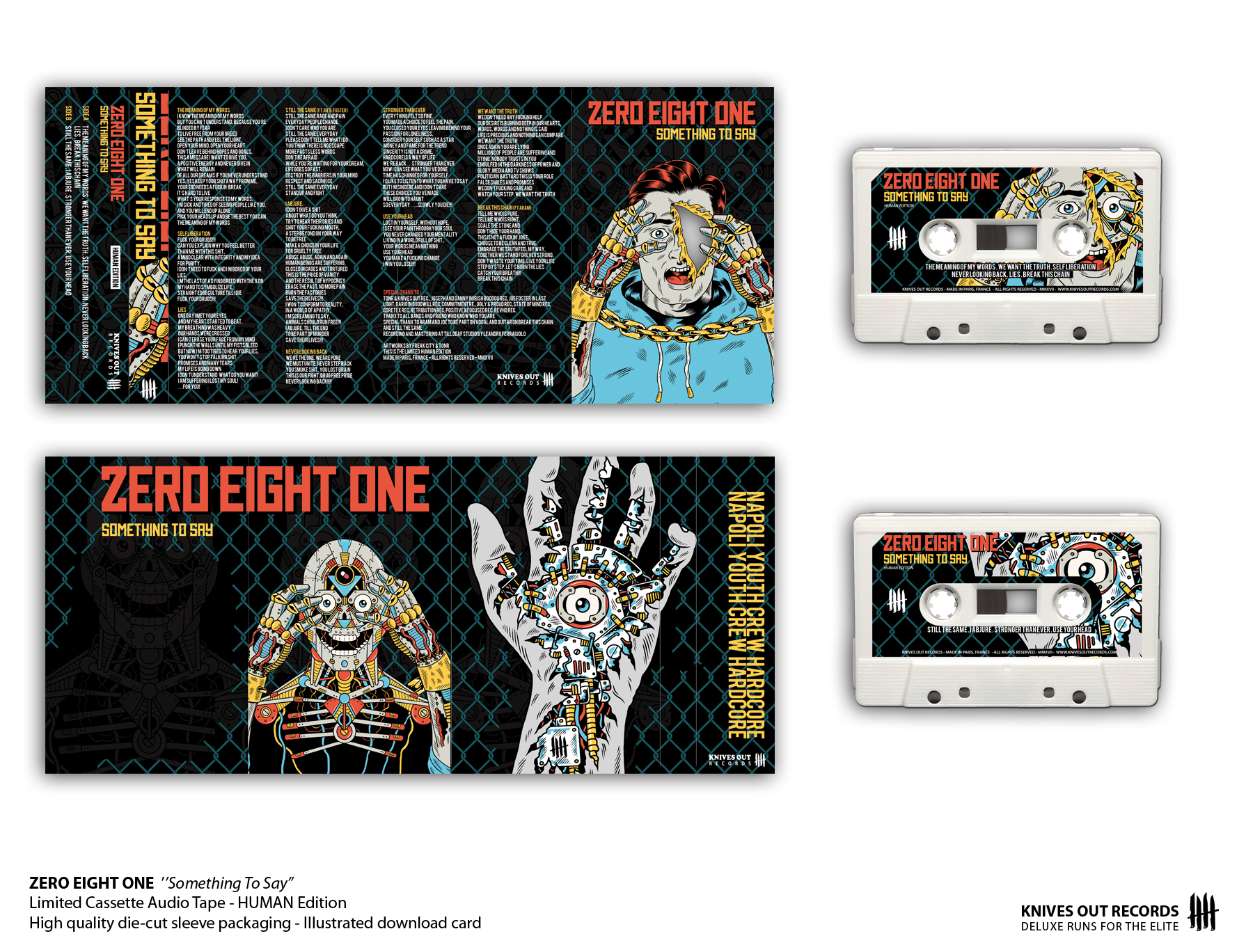 ZERO EIGHT ONE Something To Say Cassette Tape