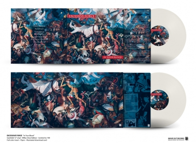 EXCESSIVE FORCE In Your Blood gatefold milky clear vinyl with insert