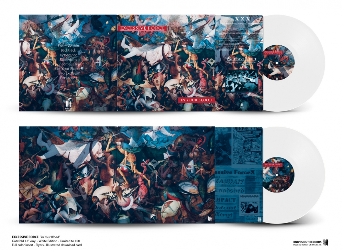 EXCESSIVE FORCE In Your Blood gatefold white vinyl with insert