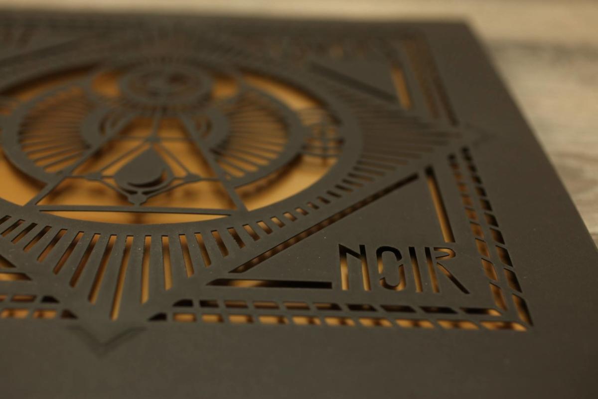 DUST LOVERS Film Noir front cover die-cut sleeve