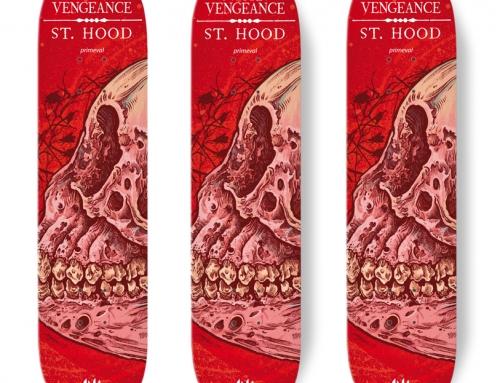 "SWORN VENGEANCE / ST HOOD limited ""Ape"" Skate deck Edition"