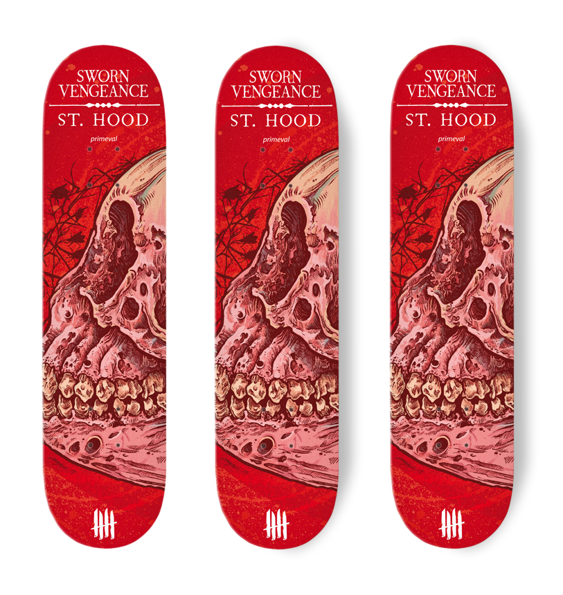 KNIVES OUT SKATEBOARDS Sworn Vengeance/St Hood