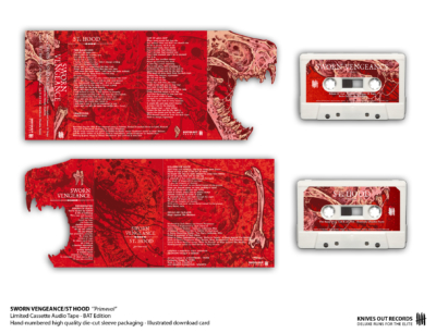 SWORN VENGEANCE/ST HOOD Primeval Cassette Audio Tape - BAT Edition