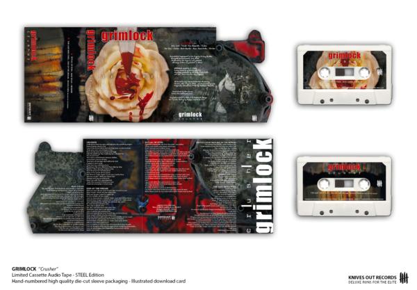 """GRIMLOCK """"Crusher"""" Deluxe reissue, cassette tape"""