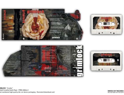 "GRIMLOCK ""Crusher"" Cassette Tape – STEEL Edition 1"