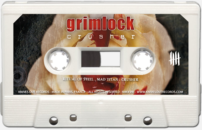 GRIMLOCK Crusher cassette tape
