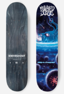 KNIVES OUT SKATEBOARDS Mutilated Judge deck