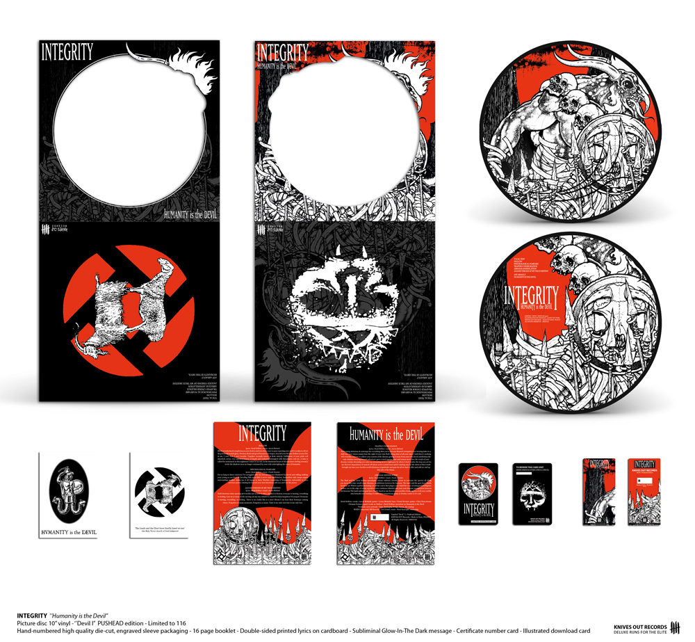"""INTEGRITY """"Humanity is the Devil"""" - """"Devil I"""" Pushead Edition - Picture disc 10"""" vinyl"""