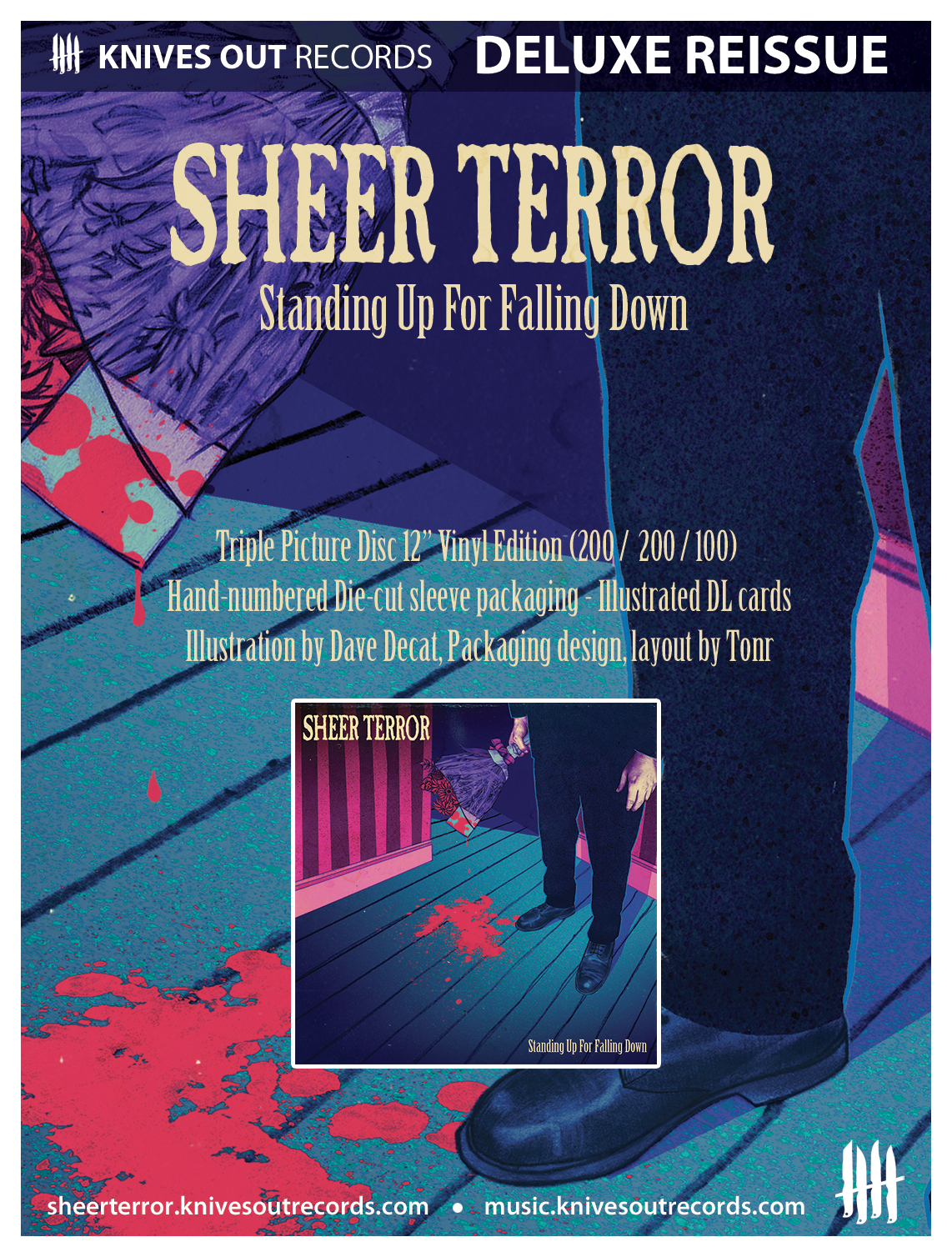 SHEER TERROR Standing Up For Falling Down triple picture disc vinyl edition