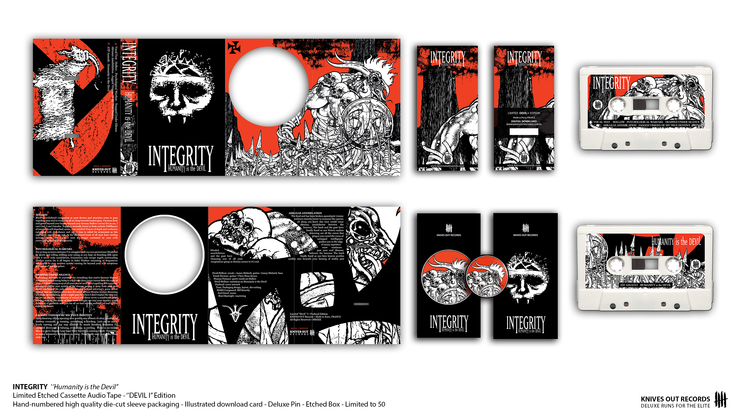 "INTEGRITY ""Humanity is the Devil"" - ""Devil I"" Pushead Edition - Cassette Audio Tape"
