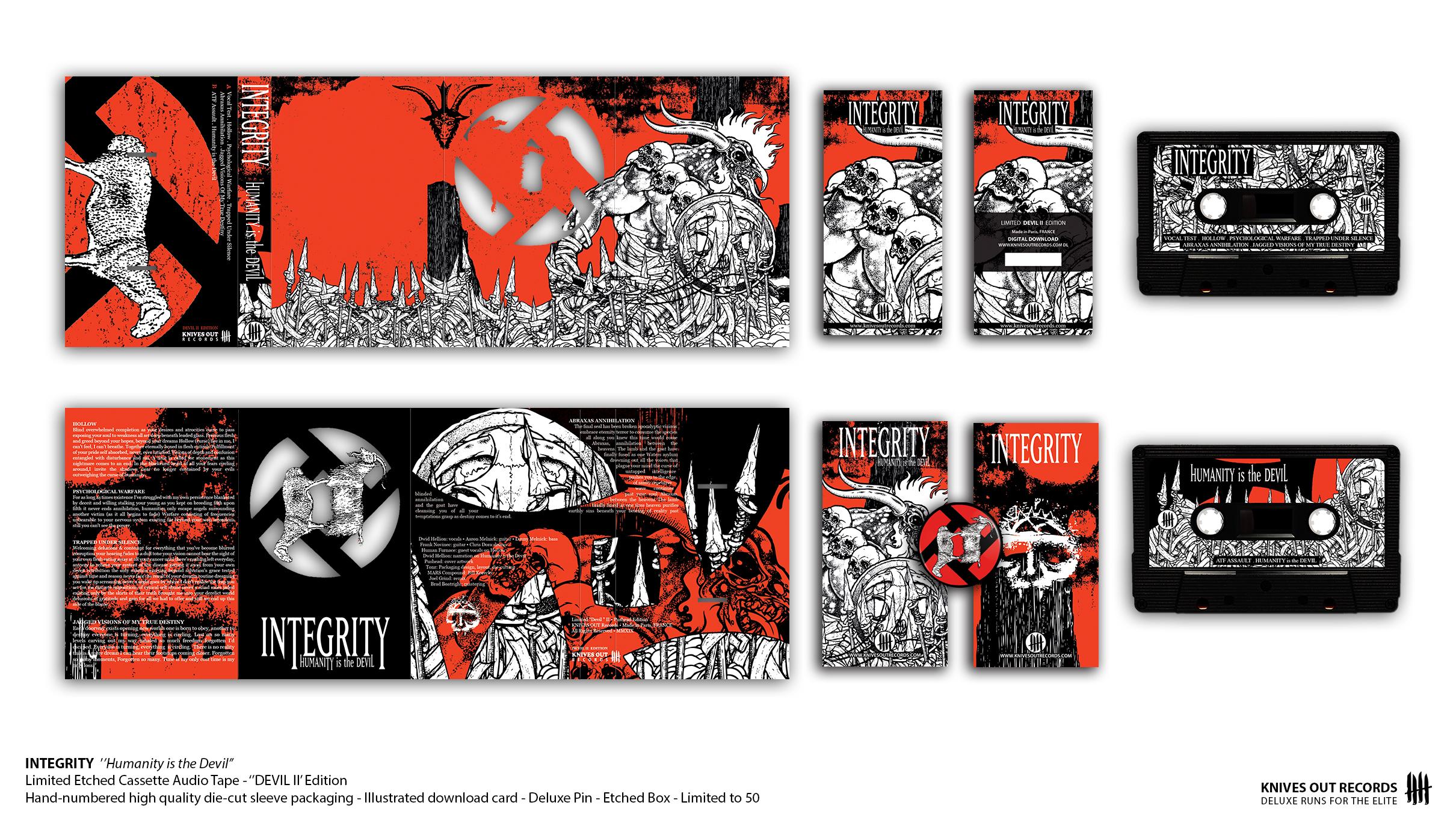 "INTEGRITY ""Humanity is the Devil"" - ""Devil II"" Pushead Edition - Cassette Audio Tape"