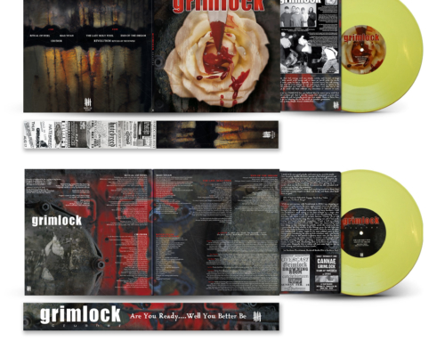 "GRIMLOCK ""Crusher"", Gatefold 10″ vinyl, Pale Yellow ""STEEL"" Edition"