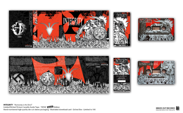 "INTEGRITY ""Humanity is the Devil"" - ""Devil II"" Pushead Edition - Picture Cassette Audio Tape"