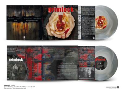 "GRIMLOCK Crusher - gatefold 10"" vinyl , white in grey - ""Steel Edition"""