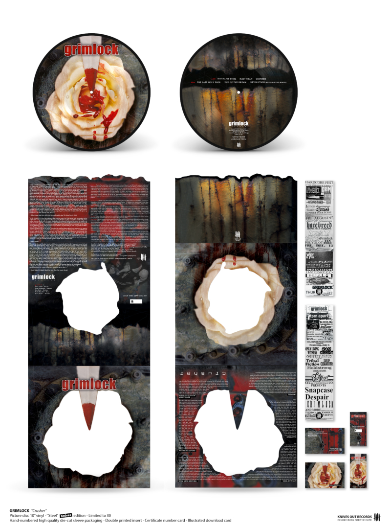 "GRIMLOCK Crusher - 10"" Picture Disc vinyl - ""Steel KNIVES Edition"""