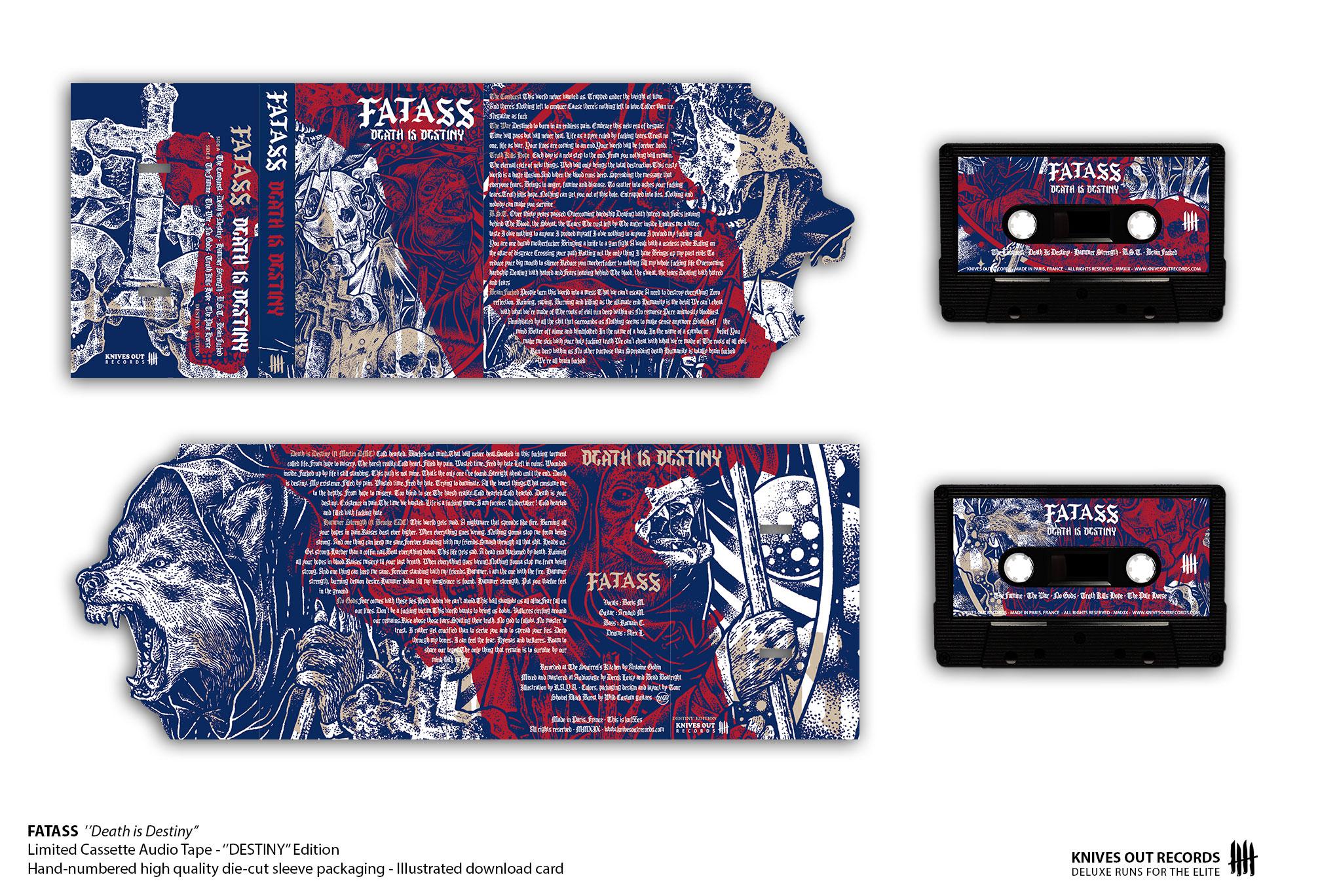 FATASS Death is Destiny Cassette Audio Tape - DESTINY Edition