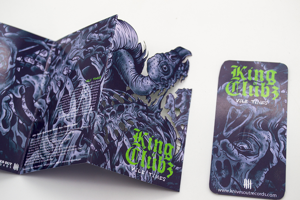 KING OF CLUBZ Vile Times cassette tape edition