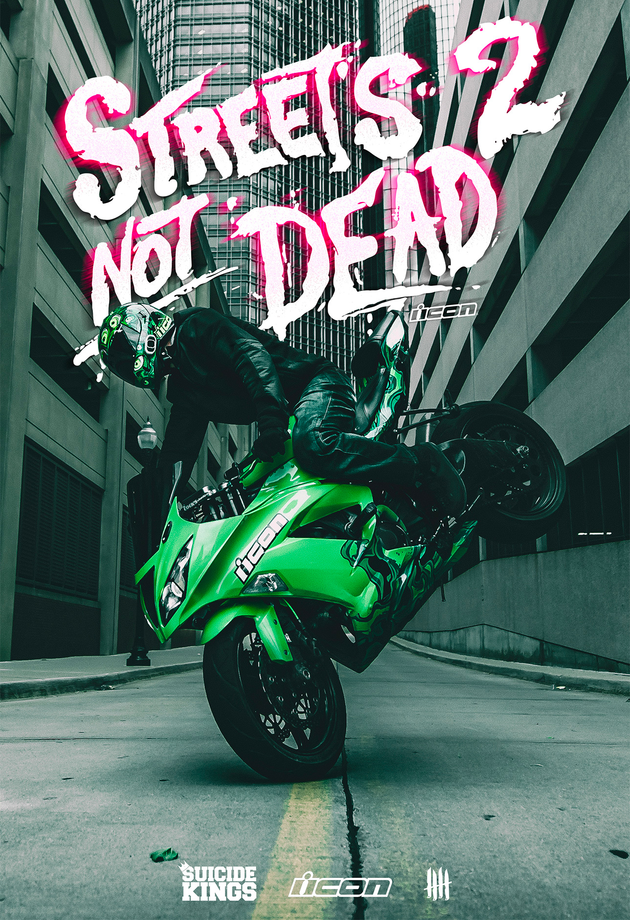 Streets 2 Not Dead, Knives Out records x Icon Motosports x Suicide Kings x Kyle Sliger